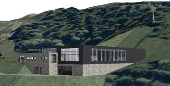 Die neue Talstation befindet sich zwischen Zirbenhütte und Schöngampalm.