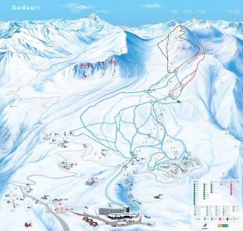 In Gudauri you will find varied slopes for all levels of ability.