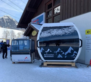 The new gondolas offer significantly more space than the cabins of the old Valisera cable car.