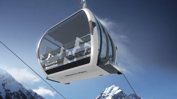 The gondolas of the new Valisera cable car offer space for 10 people.