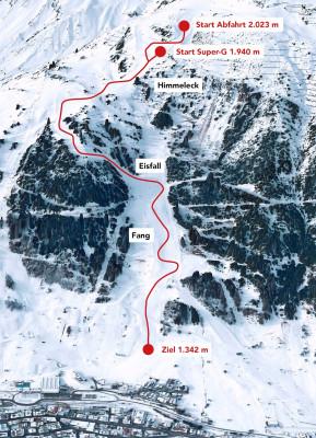 Der Streckenverlauf in St. Anton