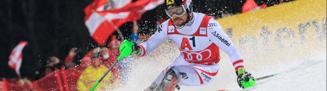 Mission Titelverteidigung mehr als geglückt: Marcel Hirscher gewinnt mit großem Vorsprung auch heuer das Nightrace in Schladming!