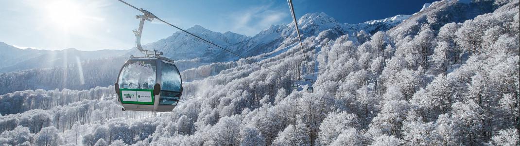 26 Lifte und Bahnen gibt es hier im größten Skigebiet von Sotschi.