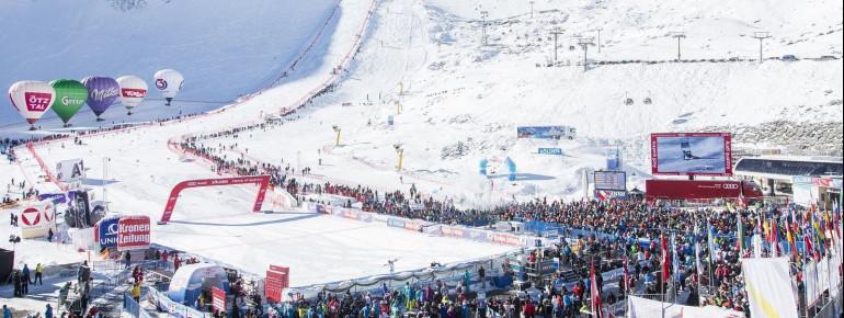 Der Ski-Weltcup startet ganz traditionell mit den Gletscherrennen in Sölden Ende Oktober.
