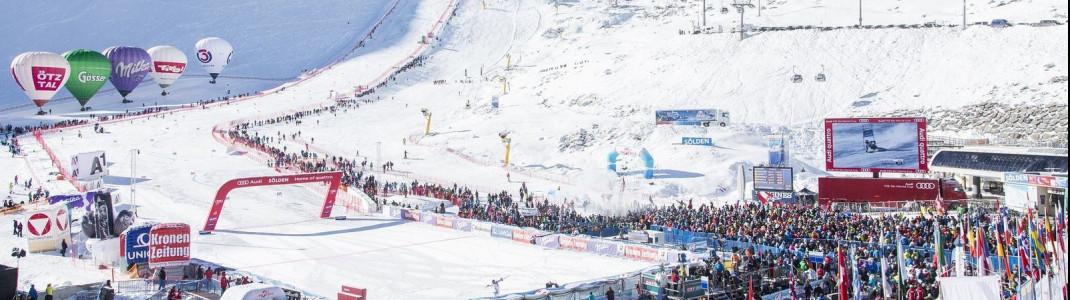 Der Ski-Weltcup startet mit den Gletscherrennen in Sölden im Oktober.