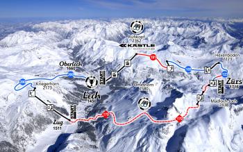 Sowohl in Lech als auch in Zürs und Zug kannst du in den Weißen Ring einsteigen.