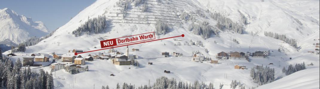 Direkt vom Dorfzentrum wird die neue 8er Gondel starten und so einen direkten Anschluss ans Skigebiet garantieren.