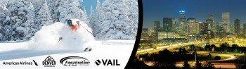 Mit American Airlines und Faszination Ski geht's nach Denver und Vail.