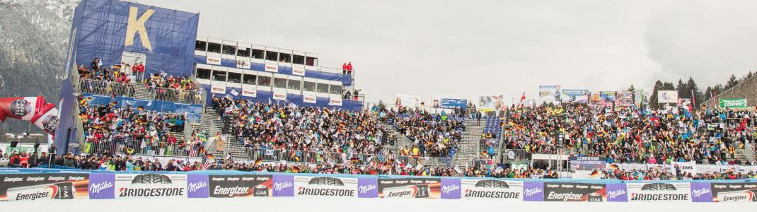 Mehrere Tausend Zuschauer werden zu den Rennen in Garmisch erwartet.
