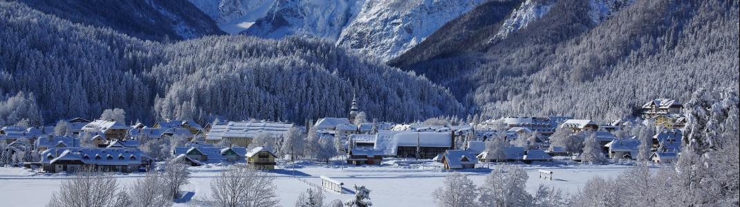 Direkt an der Grenze zu Österreich liegt der slowenische Skiort Kranjska Gora.