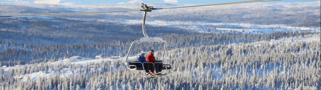 Das Skigebiet Kvitfjell liegt 30 Minuten nördlich von Lillehammer in nahezu unberührter Natur.