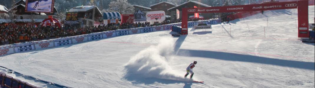 Im Gegensatz zum Vorjahr werden heuer beim Weltcup in Chamonix keine Zuschauer vor Ort sein.