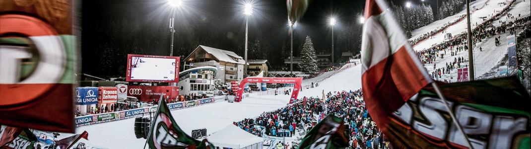 Über 13.000 Fans werden in Flachau zum Nachtslalom erwartet.