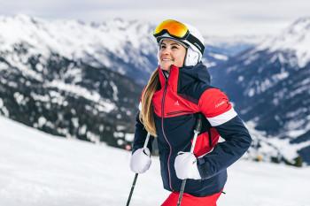 Sportlich elegant präsentiert sich dieSki Jacket Paznaun L für Damen.
