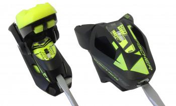 Mit Hilfe der Schrauben an Hinterbacken (l.) und Vorderbacken (r.) der Skibindung stellst du den Z-Wert ein.