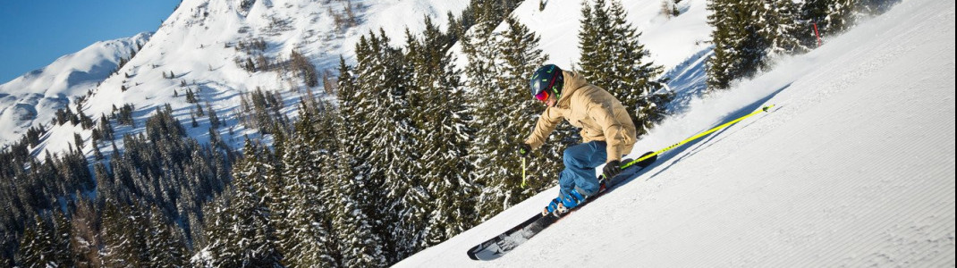"""Nur sportliche Skifahrer schaffen es, die Skicircus-Runde """"The Challenge"""" an einem Tag zu bezwingen."""