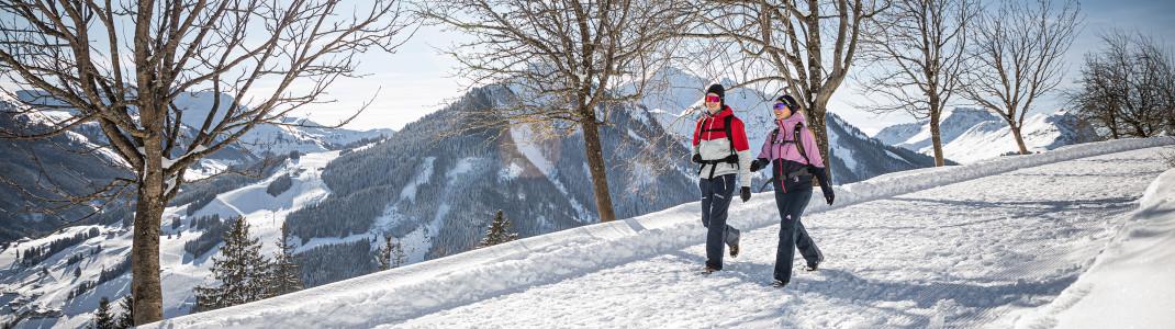 140 Kilometer Winterwanderwege führen dich durchs verschneite Winterwunderland.