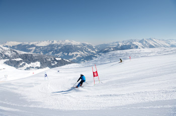 Im Rennparadies Unterberg gibt es drei permanente Riesentorlaufstrecken.