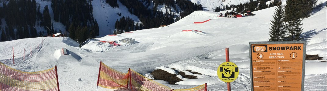 60.000 Quadratmeter groß ist das Gelände des Snowparks in Damüls.