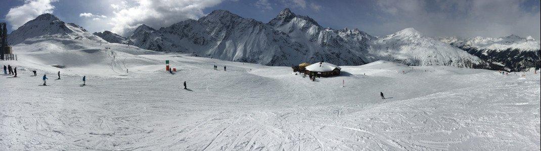 Ein tolles Bergpanorama bis auf 2525 Meter erwartet Wintersportler im Skigebiet St. Jakob im Defereggental.