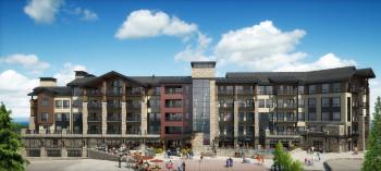 Das neue Snowmass Base Village umfasst ein Restaurant, Eigentumswohnungen sowie zahlreiche Freizeit-Einrichtungen.