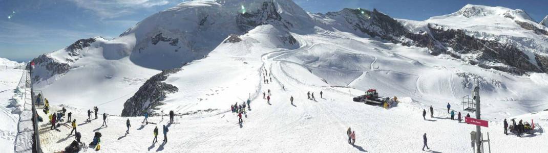250cm Schnee liegen aktuell auf dem Gletscher in Saas-Fee.