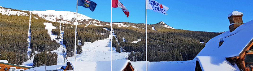Ski-Weltcup-Austragungsort Lake Louise im Banff-Nationalpark, Alberta, Kanada