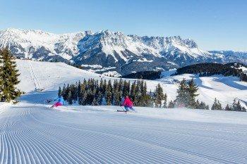 Über 284 Pistenkilometer und 90 moderne Bahnen hat die SkiWelt Wilder Kaiser - Brixental zu bieten.