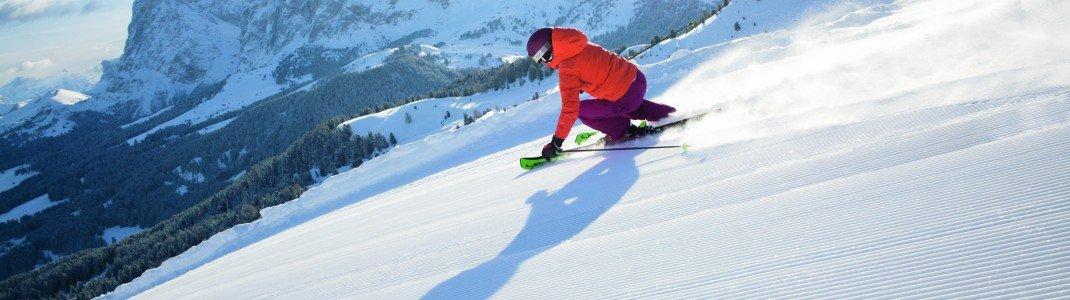 Beim Early Bird Skiing in Südtirol erwarten dich frisch präparierte und unberührte Pisten.