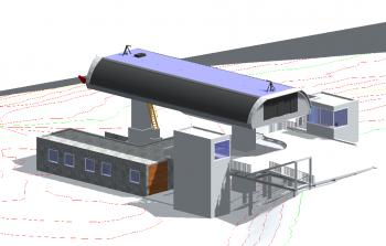 So soll die neue Bergstation der Glungezer I aussehen.