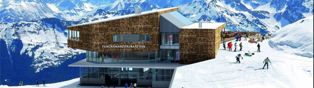 So soll das neue Panoramarestaurant am Ifen aussehen.