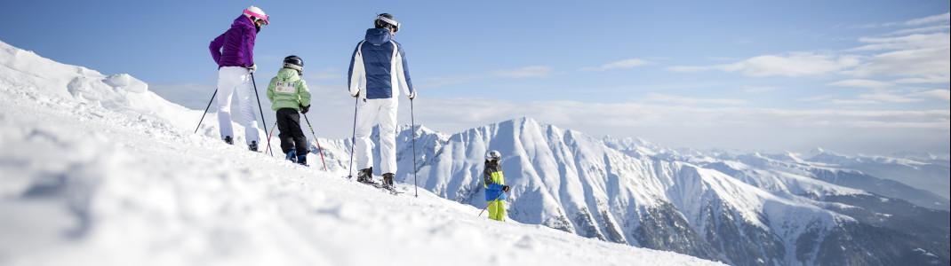 Perfekt für den Familienurlaub: die Skigebiete rund um Bozen und Brixen.