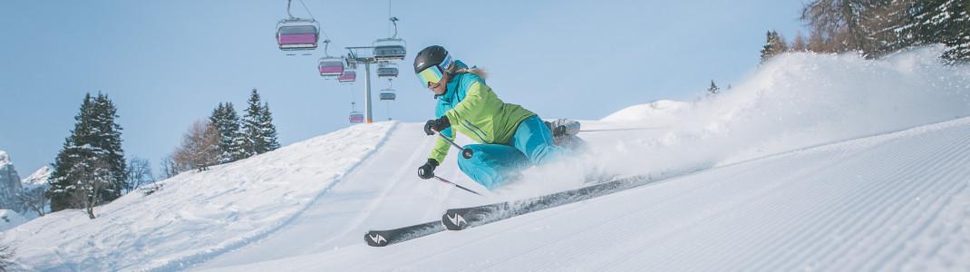 Schneesicherheit und top-präparierte Pisten in Ladurns.