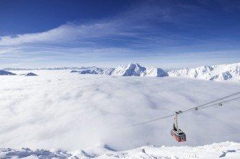 Über den Wolken am Schnalstaler Gletscher.