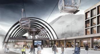 An der Talstation der neuen Valisera Bahn in Silvretta Montafon entsteht der Silvretta Park.
