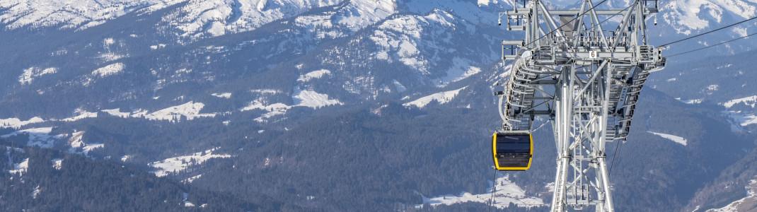 Die Nebelhornbahn in Oberstdorf wurde für 55 Millionen Euro erneuert.