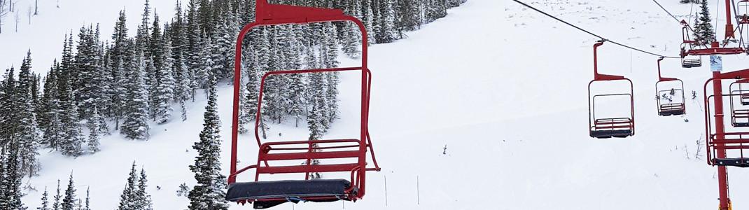 Tamarack Chair at Castle Mountain Resort, Westcastle Valley, Alberta, Canada.