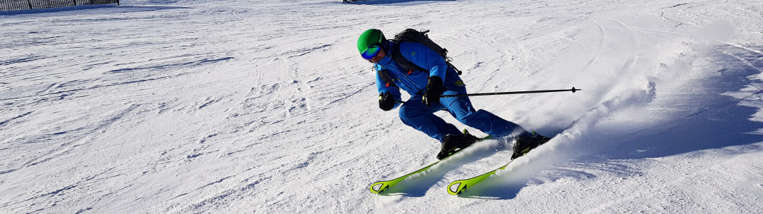 Canadian slopes - perfect for carving!