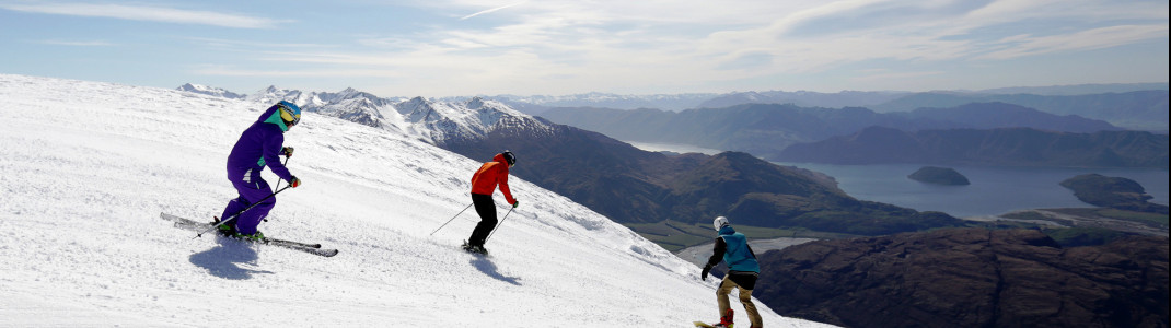 Treble Cone: Skiing with unique views of Lake Wanaka