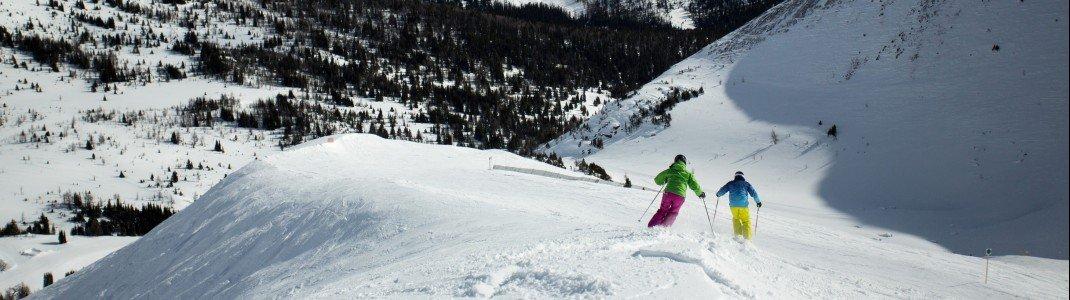 Gleich drei Skigebiete befinden sich in der Region