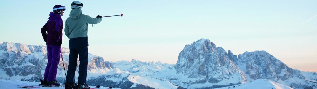Die schönsten Skigebiete vom Ortler bis zu den Drei Zinnen.