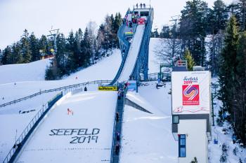 Während der WM wird auch auf der Toni Seelos Schanze in Seefeld gesprungen.