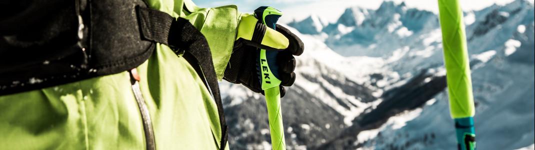 Skistöcke bringen viele Vorteile mit sich.