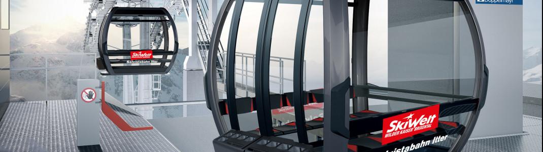 Die neuen Panoramagondeln der Silvestabahn erstrahlen in anthrazit. Ursprünglich waren sie rot geplant.