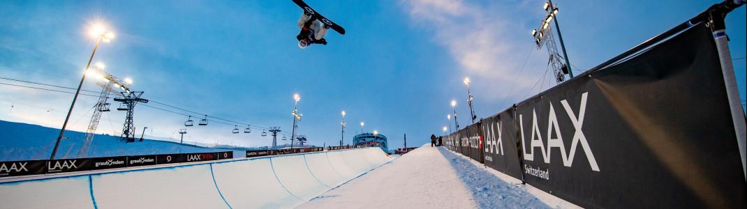 Freestyle-Eldorado: Einer der größten Snowparks der Welt befindet sich in Laax.