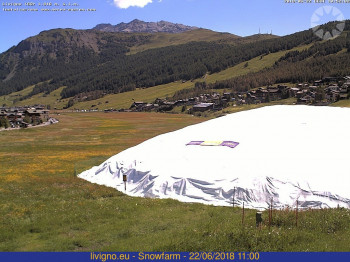 Current view of the snow depot in Livigno.