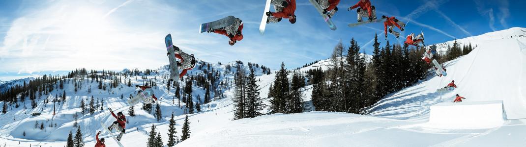 Jib, Straight Jump, Rainbow - wir stellen die häufigsten Elemente in Snowparks vor.