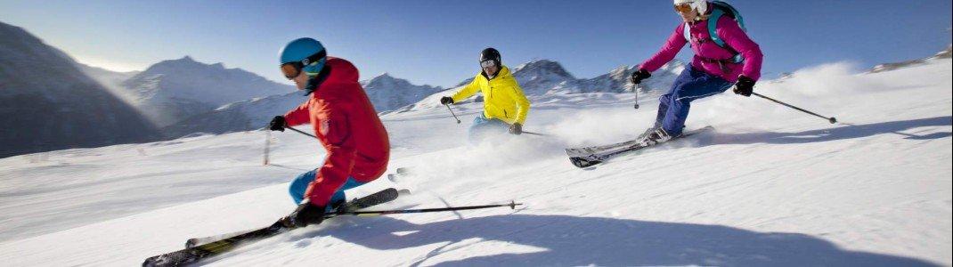 In Sölden finden sowohl erfahrene Skifahrer als auch Anfänger geeignete Pisten