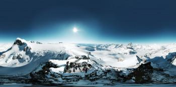Eine atemberaubende Aussicht hast du auf der Plattform Matterhorn Glacier Paradise in Zermatt.