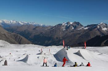 Auch im Sommer darf ein Snowpark nicht fehlen.